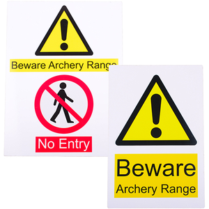Clickers Archery Warning Sign