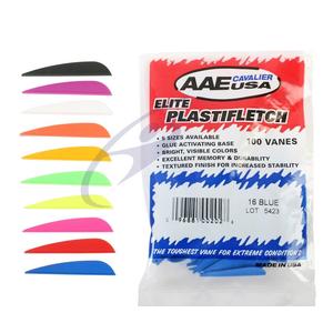 AAE Elite Plastifletch Vanes - Bag of 100