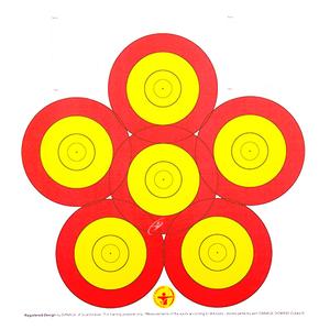 Danage 6-Spot Target Face