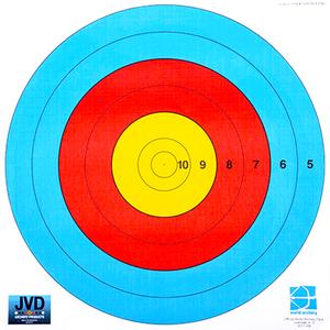 JVD World Archery 80cm 6 Ring (10 to 5 Zone)