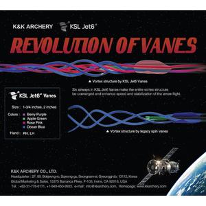 "K&K Archery 1 3/4"" Jet6 Vanes - Pack of 50"